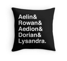 Aelin & Rowan & Aedion & Dorian & Lysandra. (Throne of Glass) (Inverse) Throw Pillow