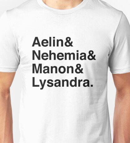 Aelin & Nehemia & Manon & Lysandra. (Throne of Glass) Unisex T-Shirt