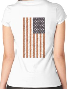 American, Stars & Stripes, Flag, Portrait CRUSTY, RUSTY Women's Fitted Scoop T-Shirt