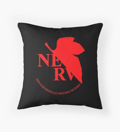 Neon Genesis Evangelion - NERV Logo Throw Pillow