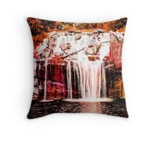 Green Lake Waterfall Throw Pillow