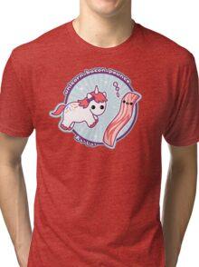 Unicorn Bacon Pounce Tri-blend T-Shirt