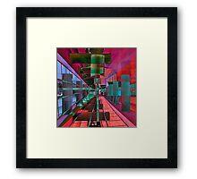 MAGIC CITY LINES Framed Print