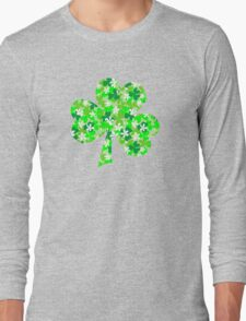 St Patrick's Day Shamrocks Long Sleeve T-Shirt