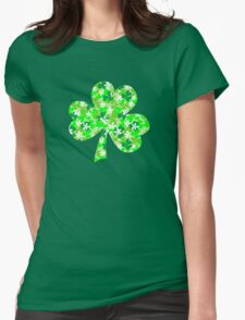 St Patrick's Day Shamrocks Womens Fitted T-Shirt