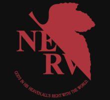 Neon Genesis Evangelion - NERV Logo One Piece - Short Sleeve
