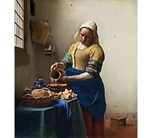 Johannes Vermeer - The milkmaid Around 1660 . Woman , Portrait Photographic Print