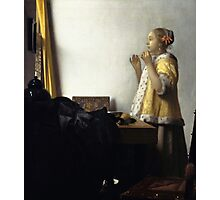Johannes Vermeer - Young Woman with a Pearl Necklace around 1662 Photographic Print