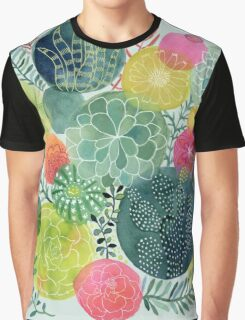 Succulent Circles Graphic T-Shirt