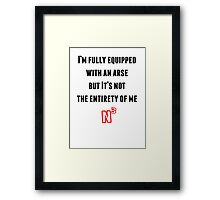 NerdCubed Quote Framed Print
