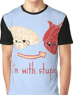 i'm with stupid - brain heart Graphic T-Shirt