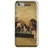 John Charles Dollman  - Table d Hote at a Dogs  Home 1879 iPhone Case/Skin