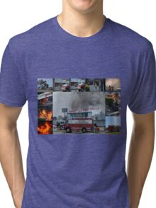 Newport Oregon Fire Department Drill - Practice Fire Drills Tri-blend T-Shirt