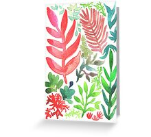 Red Corals & Laurels Greeting Card