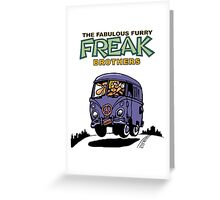 Fabulous Furry Freak Brothers Bus! Greeting Card