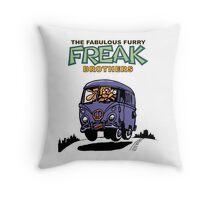 Fabulous Furry Freak Brothers Bus! Throw Pillow