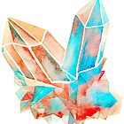 Watercolor Crystals by pizzazzdesign
