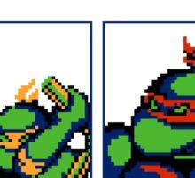 Ninja Turtles - Player select - NES Sticker