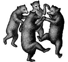 Vintage Dancing Bears Photographic Print