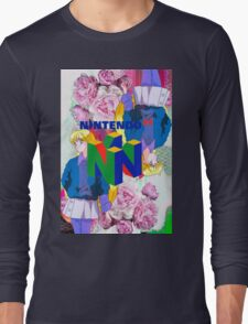 Nintendo Aesthetic Design Long Sleeve T-Shirt