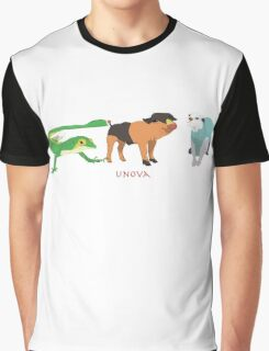 Unova Starter Pokemon Graphic T-Shirt