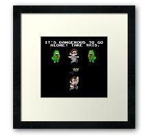 Zelda Ghostbusters Framed Print