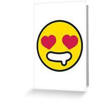 Simple Emojis | In Love Greeting Card