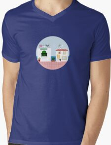 Seaside Mens V-Neck T-Shirt