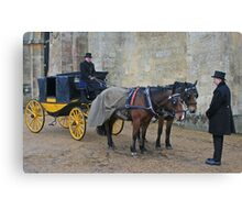 Your Carriage Awaits M'Lady Canvas Print