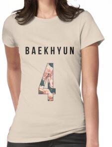 Baekhyun Floral 4 Womens Fitted T-Shirt