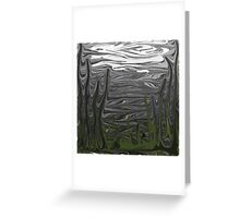 Cold Gray Winter Sky with Trees Greeting Card