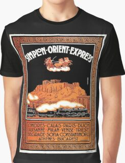 Art Deco Orient Express advertising Athens travel ad Graphic T-Shirt