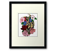 Floral Ball Python Framed Print