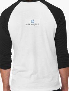 Life is alright :) (Simplistic/Optimistic) Men's Baseball ¾ T-Shirt
