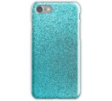 Aqua Blue Teal Watercolor Background iPhone Case/Skin