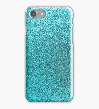Aqua Blue Teal Watercolor Background iPhone Case/Skin