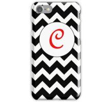 Red C Chevron iPhone Case/Skin