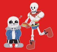 Sans and Papyrus - Undertale Kids Tee