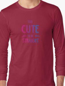 2 cute 2bi straight Long Sleeve T-Shirt