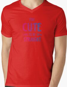 2 cute 2bi straight Mens V-Neck T-Shirt