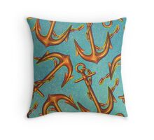 Dicky Bow - Anchors Throw Pillow