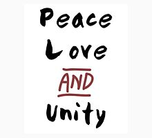 Love Peace and Unity Unisex T-Shirt