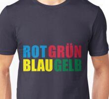 Rot Grün Blau Gelb Unisex T-Shirt