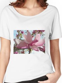 Floral - Japanese Magnolia Macro - Garden Flower Women's Relaxed Fit T-Shirt