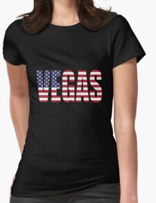 Vegas. Womens Fitted T-Shirt