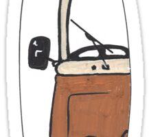 """VW Camper Van """"Brown Westy"""" T2 Mini Surfboard Sticker"""