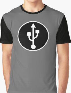 USB SYMBOL - Alternate Graphic T-Shirt