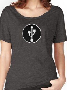 USB SYMBOL - Alternate Women's Relaxed Fit T-Shirt