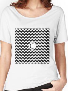 C Black Chevron Women's Relaxed Fit T-Shirt