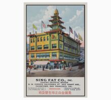 1900s Chinese Bazaar department store Chinatown San Francisco Baby Tee